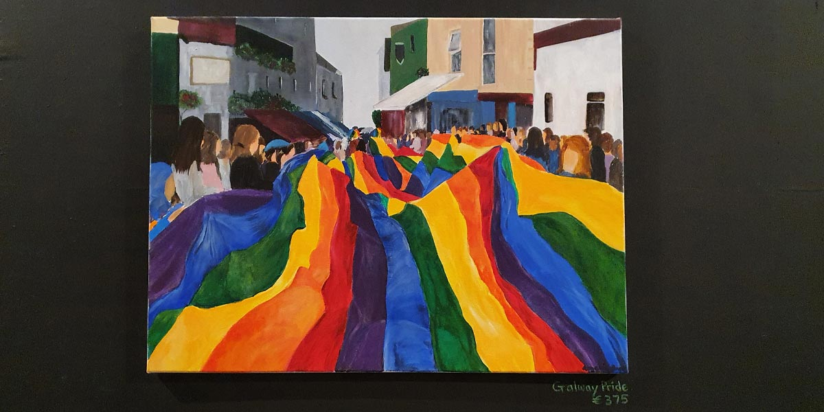 Galway Pride Rainbow Flag Painting Tuam's Three Rings Culture Night Ballyglunin Station Things To Do Family Art Exhibition